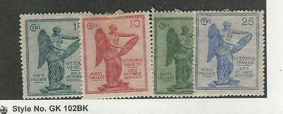 Italy, Postage Stamp, #136-139 Mint Hinged, 1921