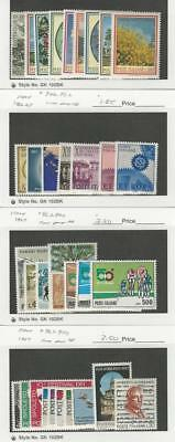 Italy, Postage Stamp, #933-37a, 946-52, 953-60, 961-70 Mint NH, 1966-68