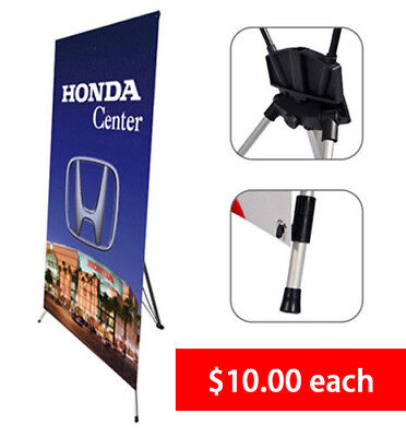"X Banner Stand Tripod Trade Show Display Medium 32""x72"" 100 PCS"