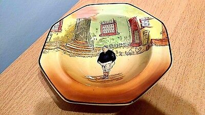 """Royal Doulton Dickens Ware """"The Fat Boy"""" Rimmed Sweet DishD5175.Lovely Condition"""