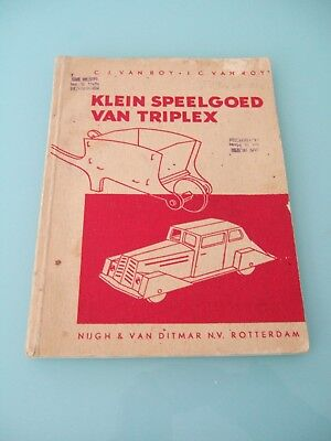 Vintage 1930's Art Deco Toy Design Catalogue Klein Speelgoed Van Triplex Dutch