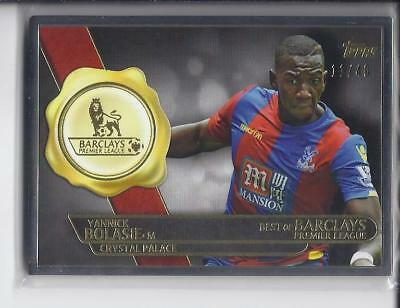 2015 Topps Premier Gold Framed Card Best of Barclays Yannick Bolasie /40