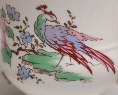 Staffordshire Cathay Cup & Saucer fine bone china England oriental floral bird