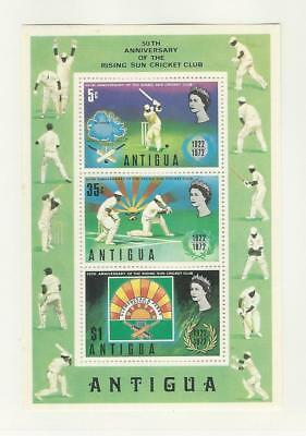 Antigua, Postage Stamp, #299a Mint NH Sheet, 1972 Cricket