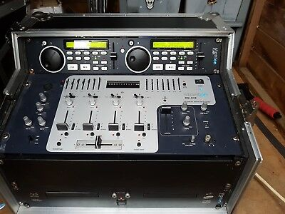 stanton mixer cd player and kam flight case