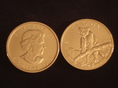 Two (2) Canadian Cougar 2012 Bullion Silver. One Ounce Each. FREE Postage