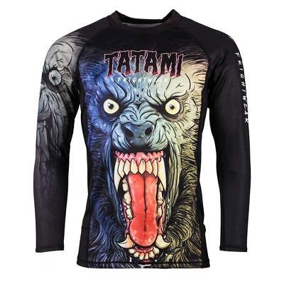 Tatami Werewolf BJJ Rash Guard Long Sleeve MMA Mens Jiu Jitsu Compression Top