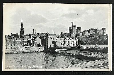 Postcard of the Castle & Bridge, Inverness - Postally Used in 1918