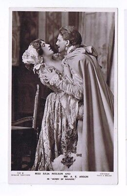 Edwardian Theatrical Post Card of Actress Miss Julia Neilson & Mr A E Anson
