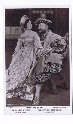 Edwardian Theatrical Post Card of Actress Miss Laura Cowie & Mr Arthur Bourchier