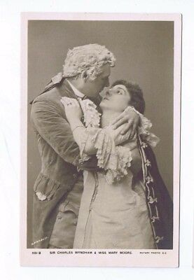 Edwardian Theatrical Post Card of Miss Mary Moore & Sir Charles Wyndham