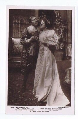 Edwardian Theatrical Post Card of Miss Madge Titheradge & Lewis  (2)
