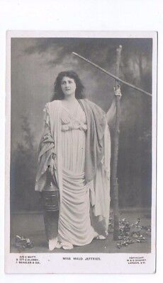 Edwardian Theatrical Post Card of Actress Miss Maud Jeffries
