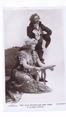 Edwardian Theatrical Post Card of Actress Miss Julia Neilson & Fred Terry