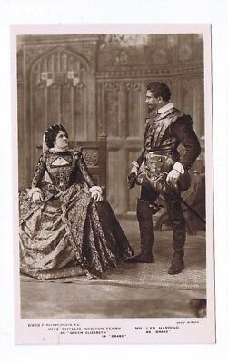 Edwardian Theatrical Post Card of Phyllis Neilson-Terry & Mr. Lyn Harding