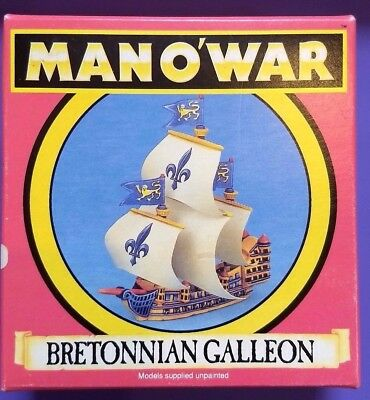 Bretonnian Galleon - Boxed - Man O War - Warhammer - Citadel - Games Workshop