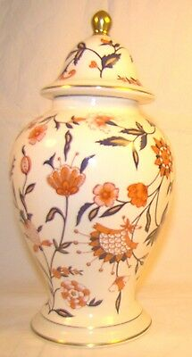 Wade England Pottery Floral Gold Ginger Jar Urn With Lid Rare