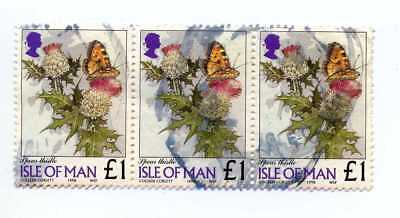 Isle Of Man - 1998 Strip Of Three £1 Definitive Stamps Fine Used