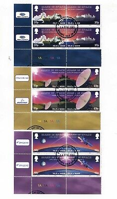 Isle Of Man - 2003 Man In Space Blocks Of Four Fine Used Ramsey First Day
