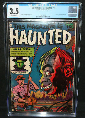 This Magazine is Haunted #10 - Classic Severed Head Cover - CGC Grade 3.5 - 1953
