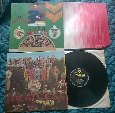 THE BEATLES: Sgt PEPPERS LP WIDE SPINE COVER