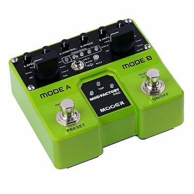 Mooer Twin Mod Factory Pro Duel Engine Modulation Effects Pedal, MTWINMFP