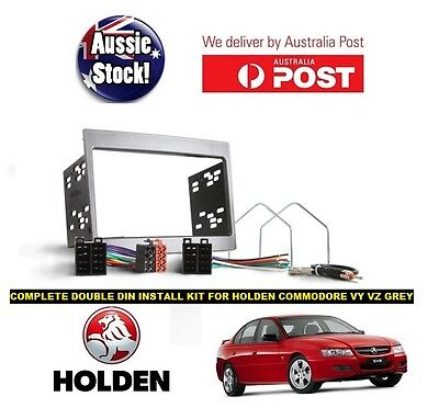 Double DIN Radio Stereo INSTALL KIT FOR HOLDEN COMMODORE VY VZ Monaro GREY