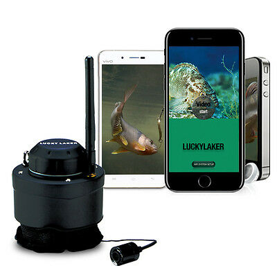 80M Wireless Operating Range Fishing Camera 125Khz Rechargeable fr Android IOS