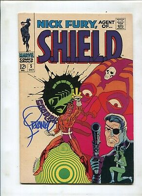 Nick Fury #5 (7.5) Classic Cover Signed By Jim Steranko!