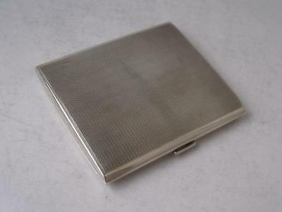 Smart Art Deco Solid Sterling Silver Cigarette Case 1930/ L 8.2 cm/ 102 g