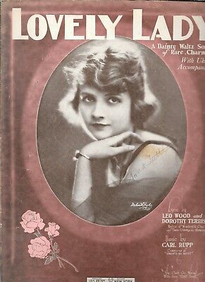 Lovely Lady, 1924, by Leo Wood, Dorothy Terriss and Carl Rupp