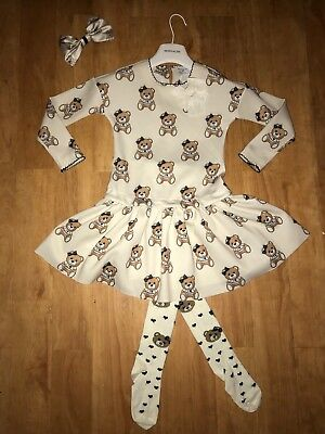 Girls Stunning Monnalisa Outfit 3 Piece Age 7 Excellent Immaculate Con