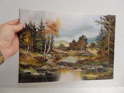 old PAINTING oil canvas signed JOHN CORCORAN