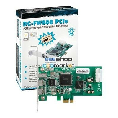 Dawicontrol DC-FW800 PCIe, Controller DC-FW800 PCIe Retail Schede di input