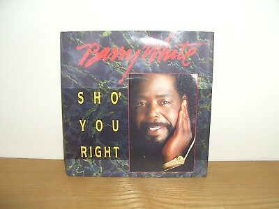 """Barry White SHO' YOU RIGHT 7"""" single (EXCELLENT CONDITION)"""
