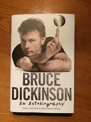 Autographed Bruce Dickinson - What does this button do? *All Proceeds to Charity