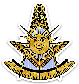 3/$10.99 Past Master Freemason Decal PHA Shriner York Scottish Widow's Son