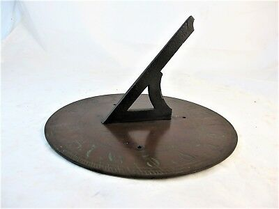 Antique English Bronze Sundial C1830'S Original Patina.