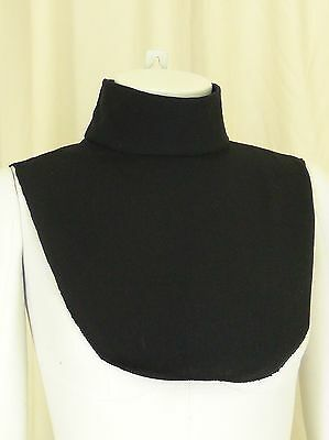 Black Mock Turtleneck Unisex Dickie Cotton Dicky Dickey Choose Size