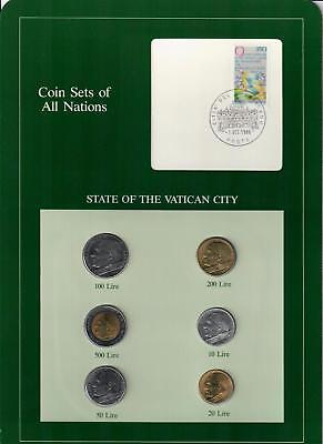 State Of The Vatican City Italy Italian Coin Sets Of All Nations (6) Coins