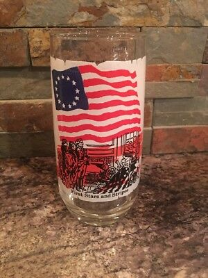 Vintage Coca Cola Company Glass First Stars & Stripes Heritage Collectors Series