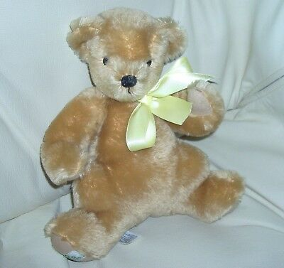 "Vintage Merrythought Karin Heller 10"" Gold Mohair Teddy Bear Made In England"