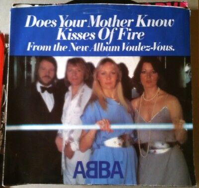 ABBA, Does Your Mother Know ~ NM 1979 Atlantic 45 +PS
