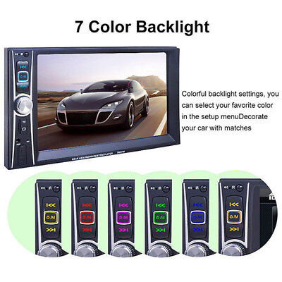6.6'' Double 2DIN DVD Player Bluetooth MP4/Audio/Video Rearview Camera US STOCK