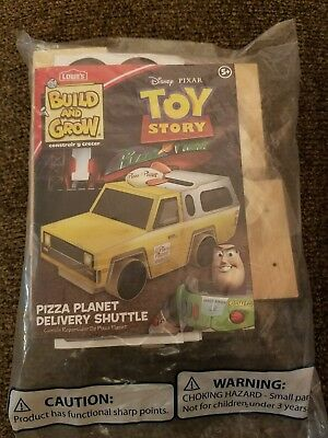 Lowes Build and Grow wood craft Toy Story Pizza planet