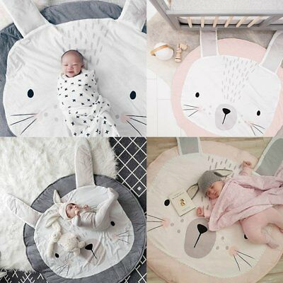 Baby Newborn Rabbit Crawling Blanket Kids Game Play Mat Padded Carpet Floor Rug