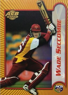 TOPPS ACB GOLD ... Signature Series ( Unsigned) .. QUEENSLAND.. WADE SECCOMBE