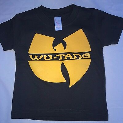 Baby Toddler Kids Band Music Rap Hiphop Old School Tee Tshirt Top Wutang