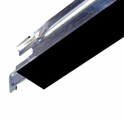 Black Cross Tee Section 600mm x 24mm Suspended Ceiling Grid Spare Part Component