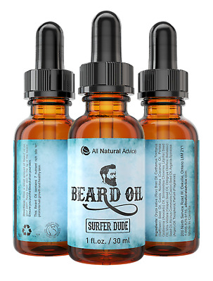 Beard Oil - All-Natural and Organic Leave-In Conditioner - Surfer Dude!